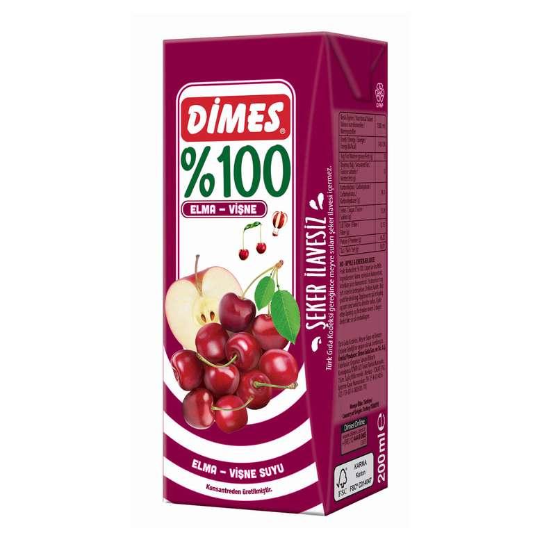 Dimes Meyve Suyu %100 Vişne&Elma 200 ml