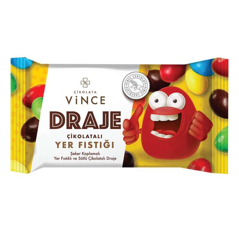 Vince Draje Yer Fıstıklı Şeker Kaplı 45 G
