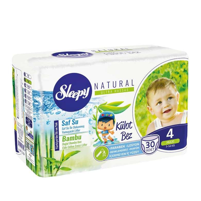 Sleepy Natural 4 Numara  Maxi 30'lu Külot Çocuk Bezi