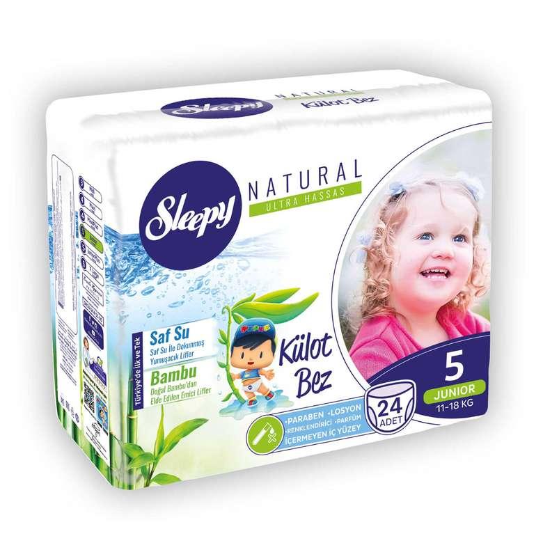 Sleepy  Natural 5 Numara  Junior 24'lü Külot Çocuk Bezi