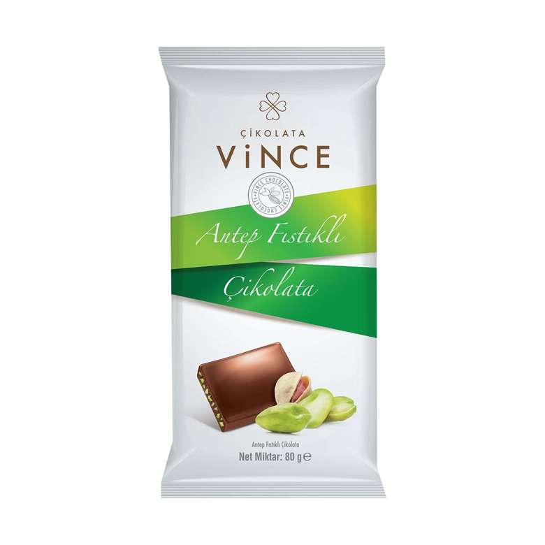 Vince Çikolata Antep Fıstıklı 80 G