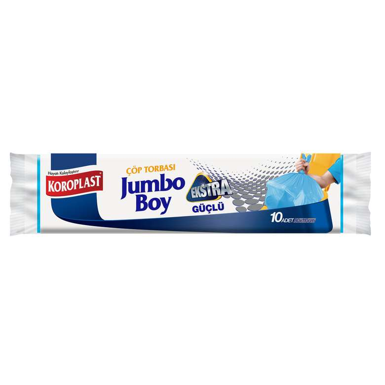 Koroplast Jumbo Boy Extra Güçlü Çöp Poşeti 10'lu