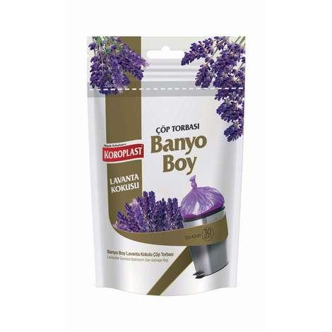 Koroplast Lavanta Kokulu Çöp Torbası Banyo Boy 30'lu