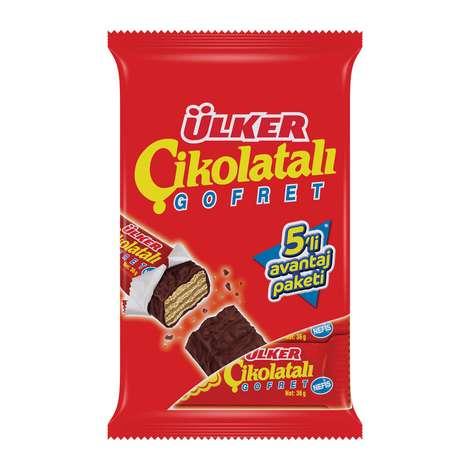 Ülker Gofret Çikolatalı 5x36 G