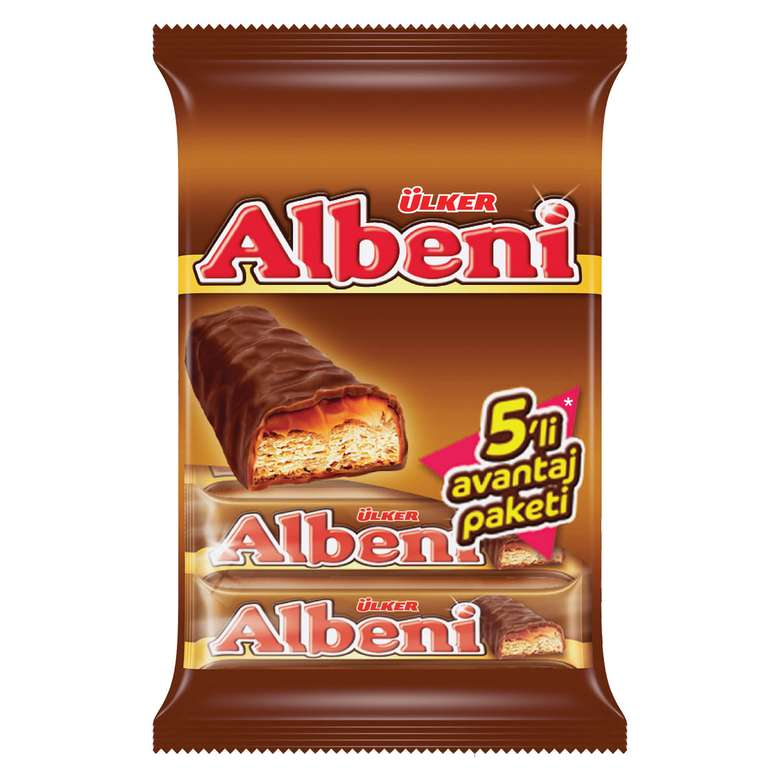 Ülker Albeni Bar Çikolata Karamelli 5x36 G