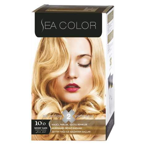 Sea Color Saç Boyası  Sedef Sarı 10.0 100 ml