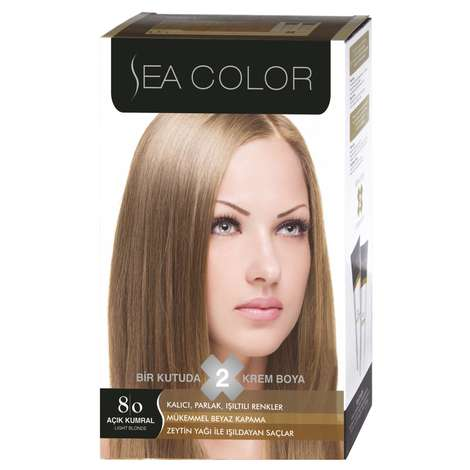Sea Color Saç Boyası  Açık Kumral 8.0 100 ml