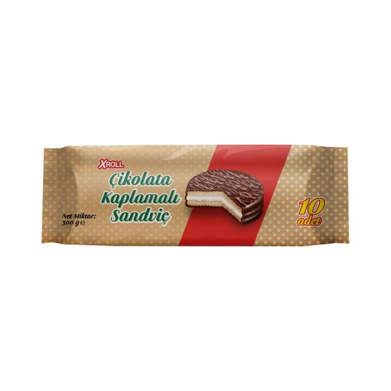 Xroll Bisküvi Çikolata Kaplı Marshmallow 10x30 G