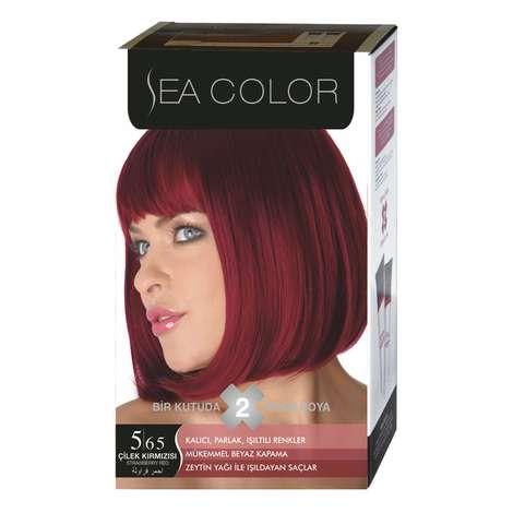 Sea Color Saç Boyası 100 Ml Çilek Kırmızısı 5.65