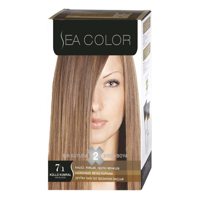 Sea Color Saç Boyası 100 Ml Küllü Kumral 7.1