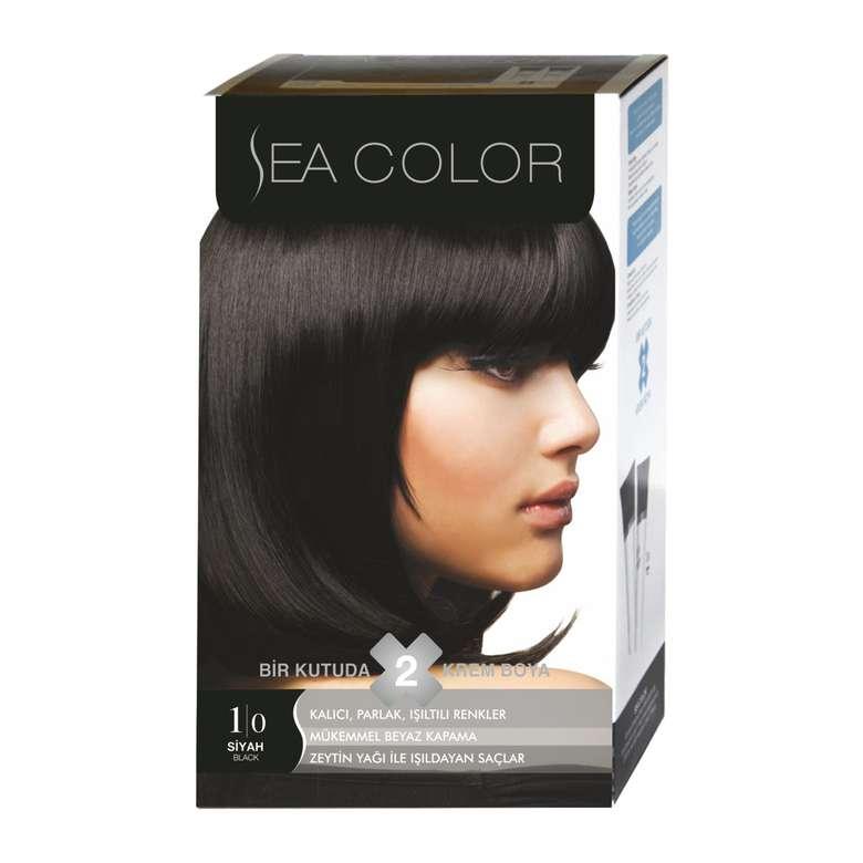 Sea Color Saç Boyası Siyah 1.0 100 ml