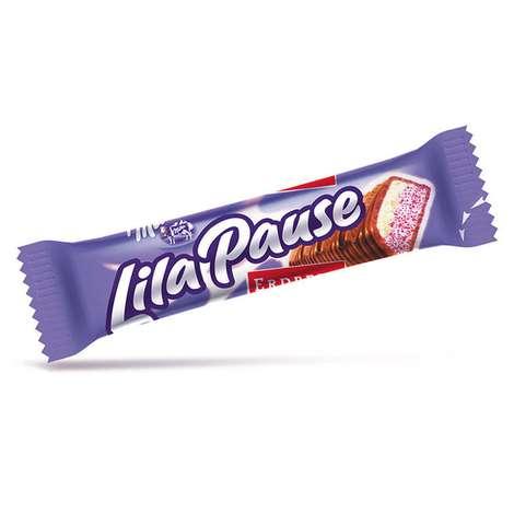 Milka Lilapause Bar Çikolata Çilekli 34 G