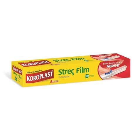 Koroplast Streç Film 100 M Kesme Bıçak Hediyeli