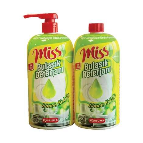 Miss Bulaşık Deterjanı Sıvı 2x1000 Ml