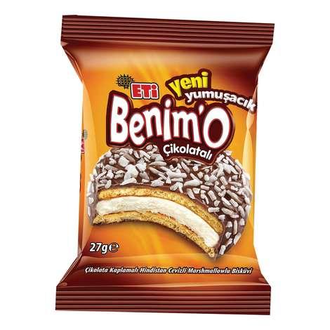 Benimo Bisküvi Çikolata  Kaplamalı Marshmallow 24x27g