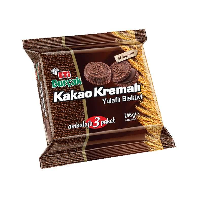 Eti Burçak Kakao Kremalı Yulaflı Bisküvi  246 gr