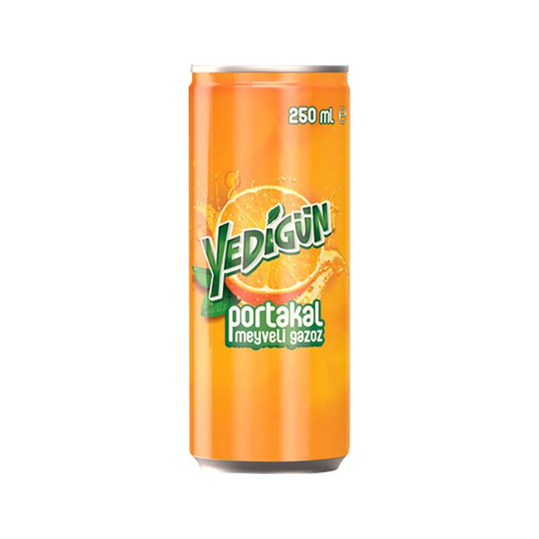 Yedigün Gazlı İçecek Portakal 250 Ml