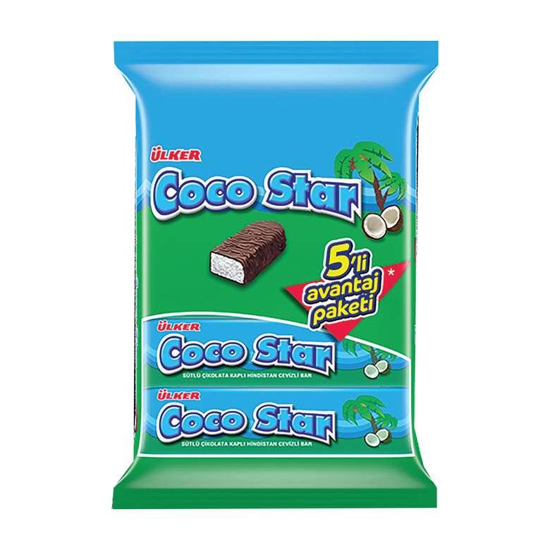 Ülker Coco Star Bisküvi Çikolata Kaplı 7x22 G