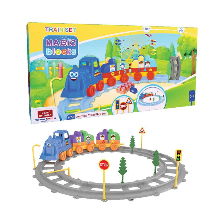Oyuncak Tren Seti - 43 Parça