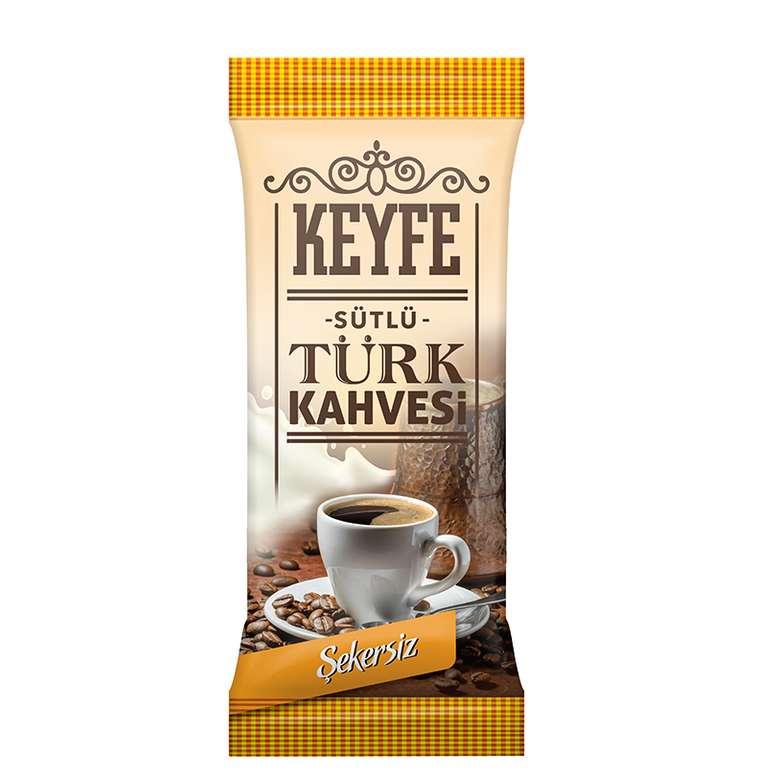Keyfe Sütlü Hazır Tek İçimlik Türk Kahvesi 19,5 - 22,5 G Şekersiz