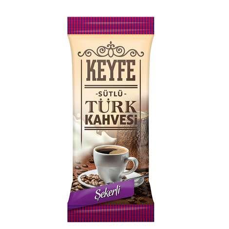 Keyfe Sütlü Hazır Tek İçimlik Türk Kahvesi 19,5 - 22,5 G Şekerli