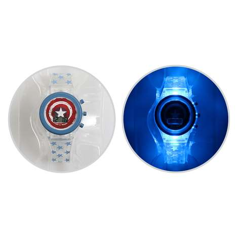 Captain America Led Işıklı Dijital Kol Saati