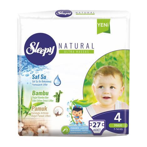 Sleepy Natural 4 Numara Maxi 27'li Çocuk Bezi