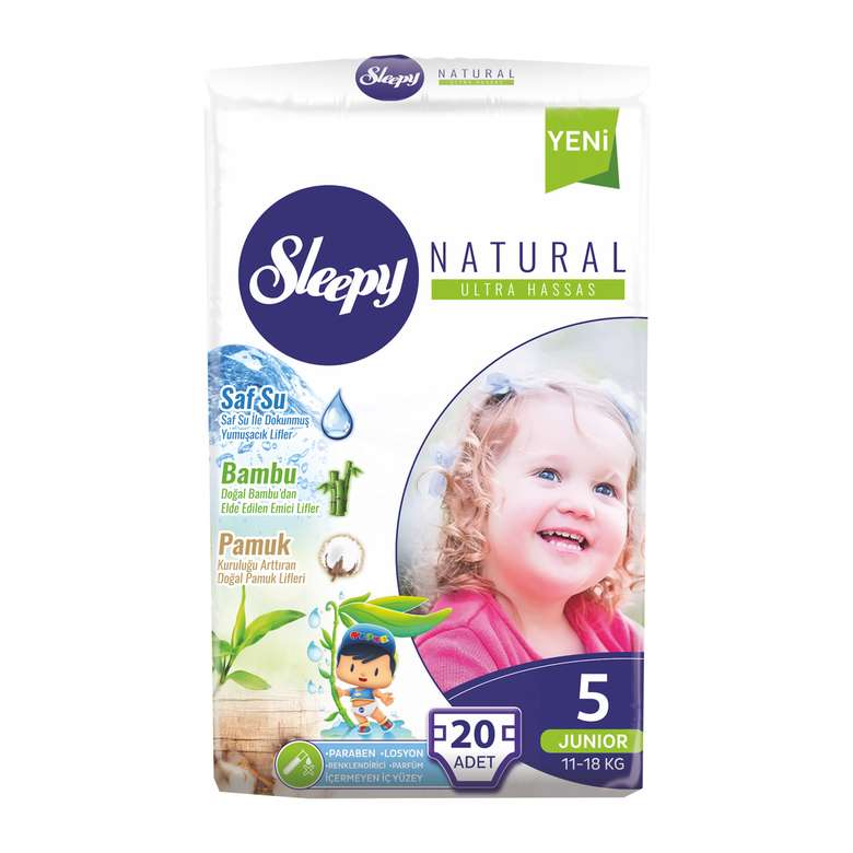 Sleepy Natural Çocuk Bezi Junior 20'li