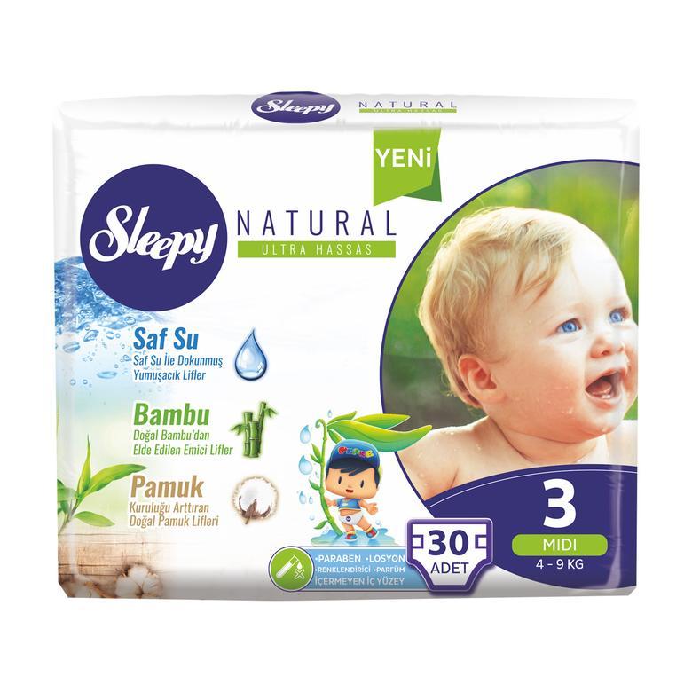 Sleepy Natural Çocuk Bezi Mıdı 30'lu