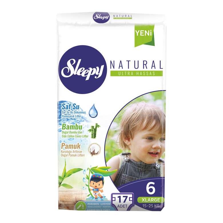 Sleepy  Natural 6 Numara X Large 17'li  Çocuk Bezi