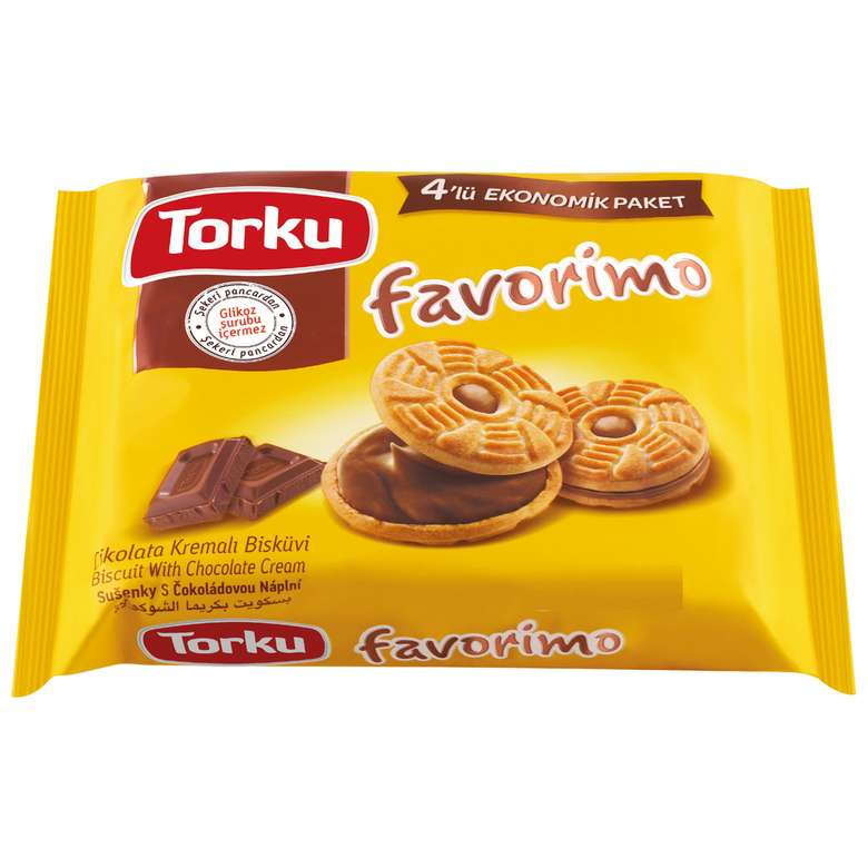 Torku Favorimo Bisküvi Çikolata Kremalı 4x76g