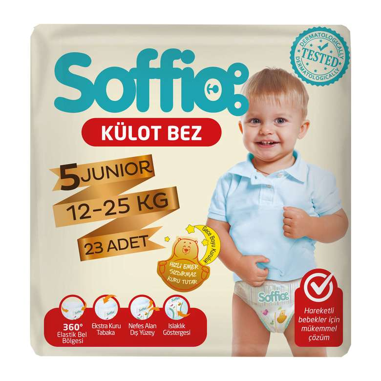 Soffio 5 Numara  Junior 23'lü Külot Çocuk Bezi