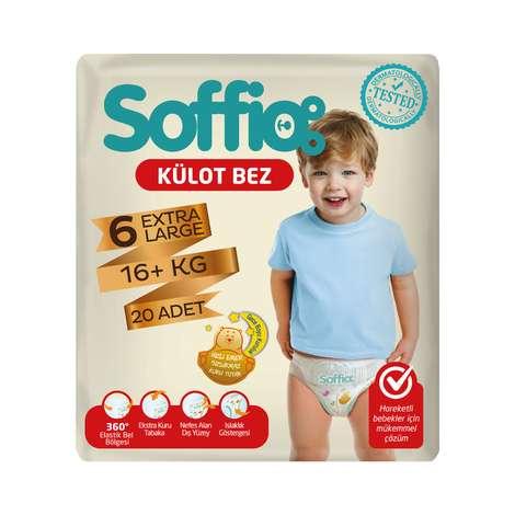 Soffio 6 Numara Extra Large 20'li Külot Çocuk Bezi