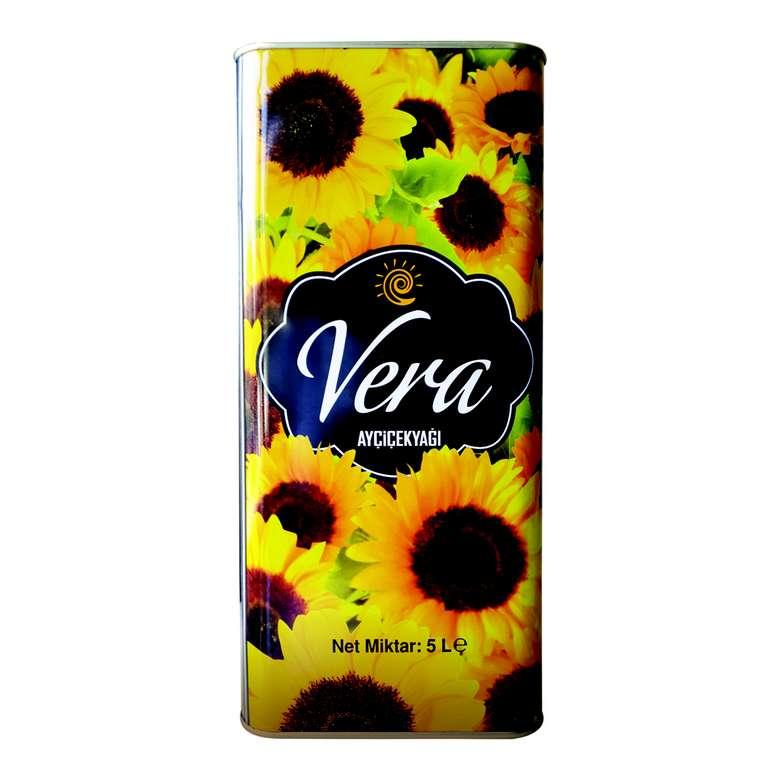 Vera Ayçiçek Yağı Teneke 5 L