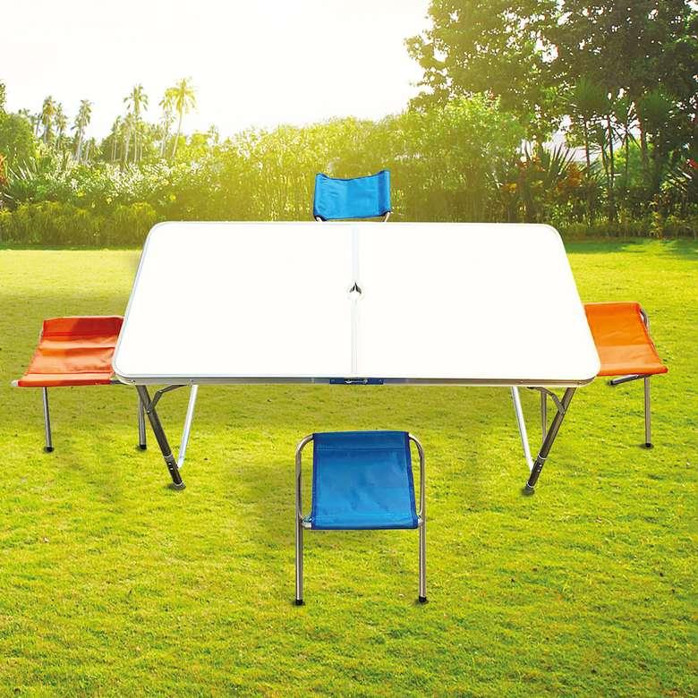 Katlanabilir Alüminyum Piknik Masa ve Tabure Seti