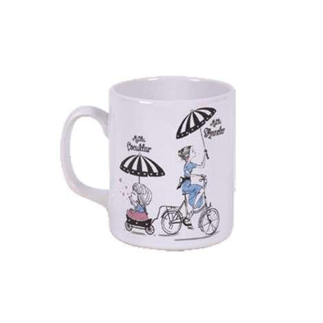 Keramika Kupa Anneler Günü Bisiklet 10 Cm