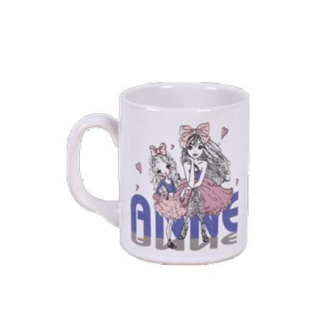 Keramika Kupa Anne Kız Pembe Kurdele 10 Cm