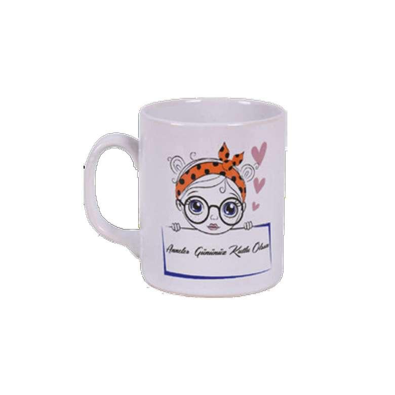 Keramika Kupa Anneler Günü Gözlük 10 Cm