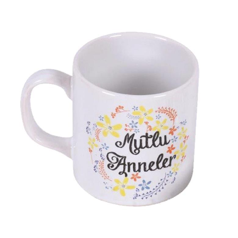 Keramika Kupa Mutlu Anneler Papatya 10 Cm
