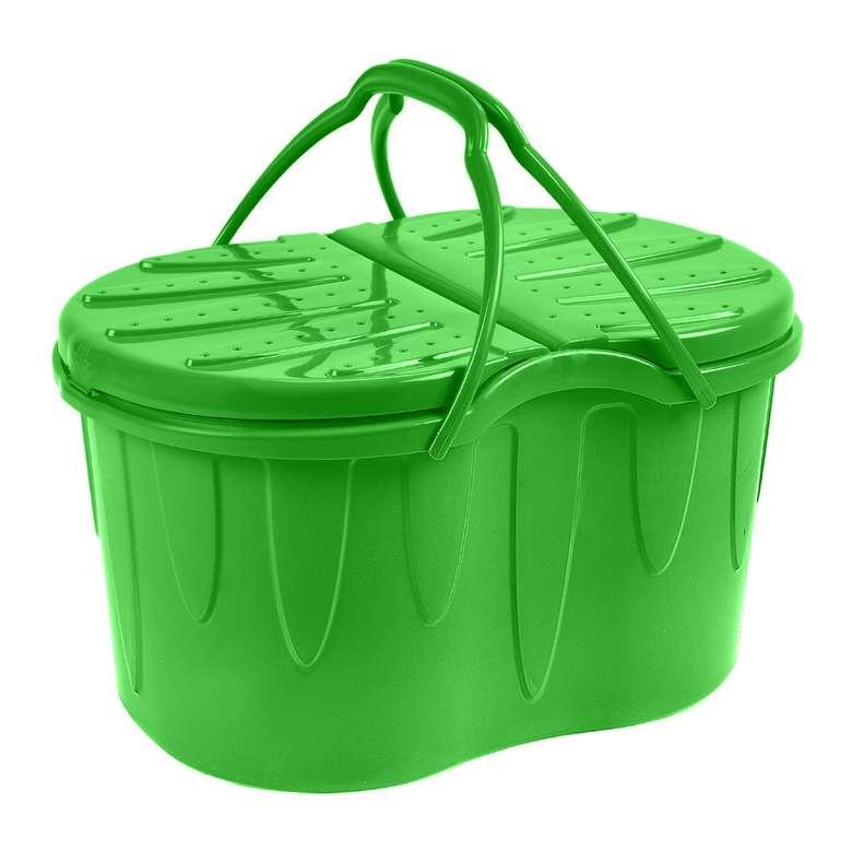 Hobbylife Plastik Piknik Sepeti 25 L - Yeşil