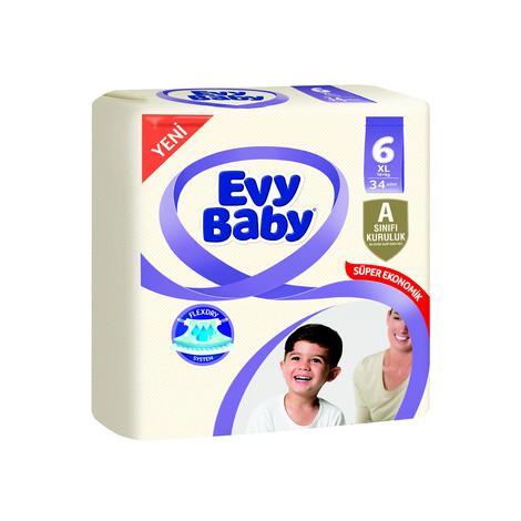 Evy Baby 6 Numara  X Large 34'lü Çocuk Bezi