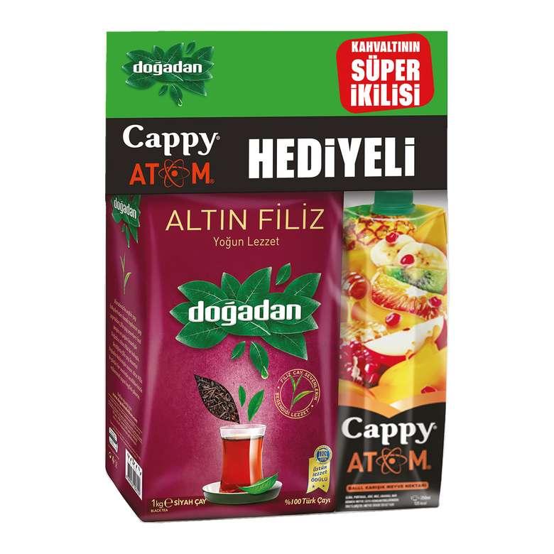 Doğadan Çay Altın Filiz + Cappy Atom 1lt Hediye 1000 G