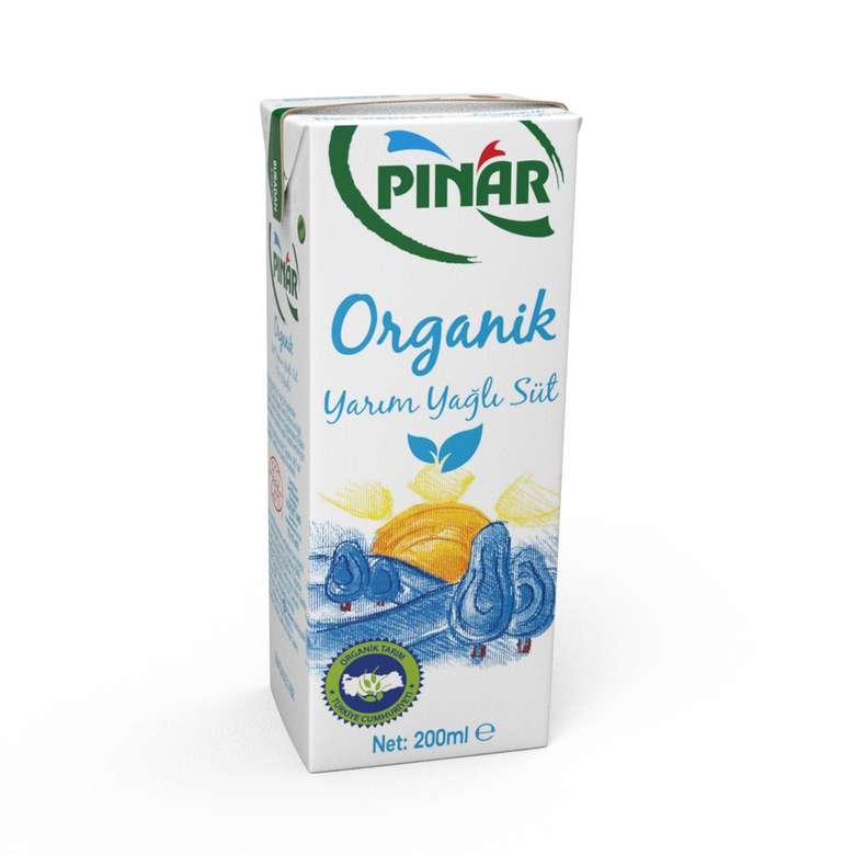 Pınar Süt Organik Yarım Yağlı 200 Ml