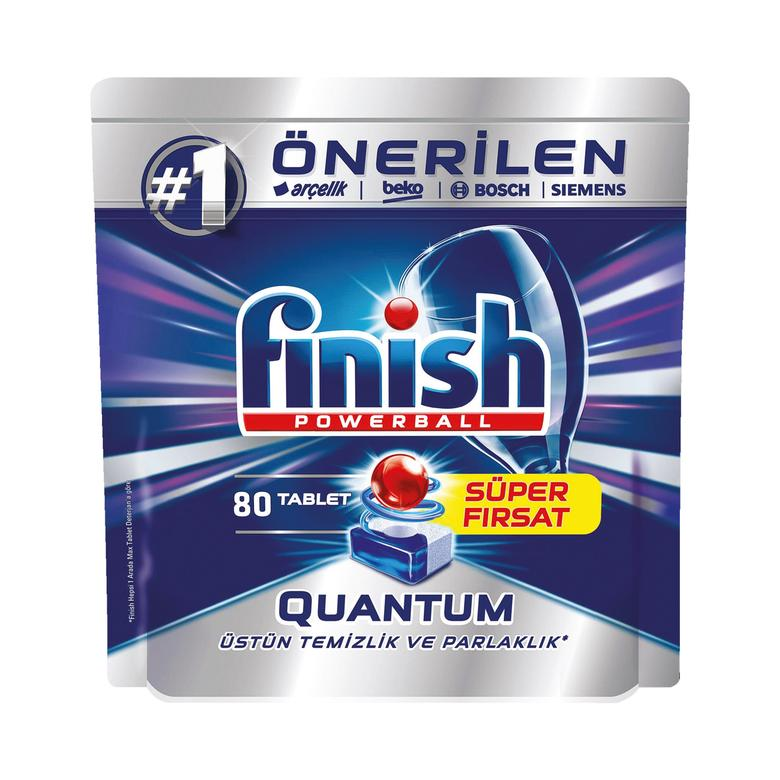 Quantum Finish Bulaşık Makinesi Tableti 80'li