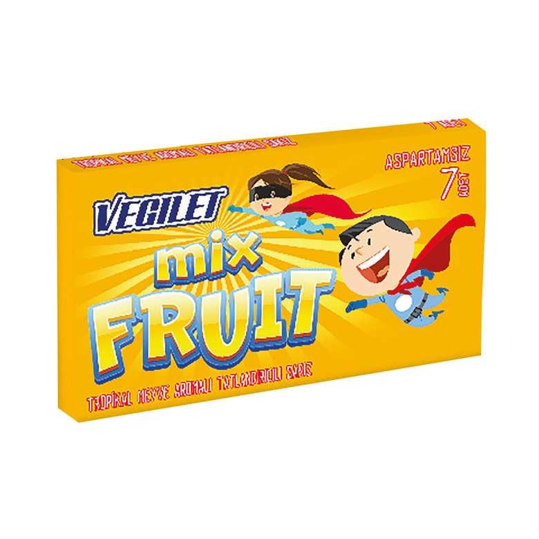 Vegılet Sakız Karışık Meyve Aromalı 7'li 14,5 G