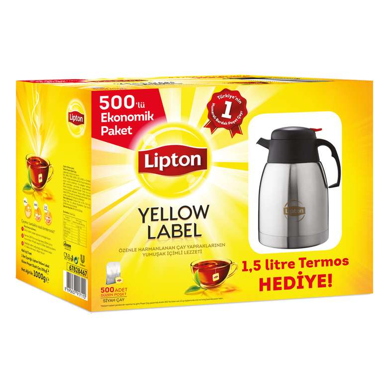 Lipton Yellow Label Bardak Poşet Çay 500'Lü