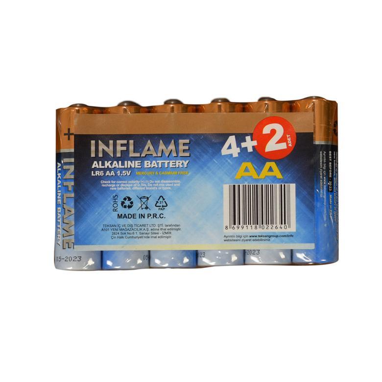 Inflame Alkalin Kalem Pil 6'lı