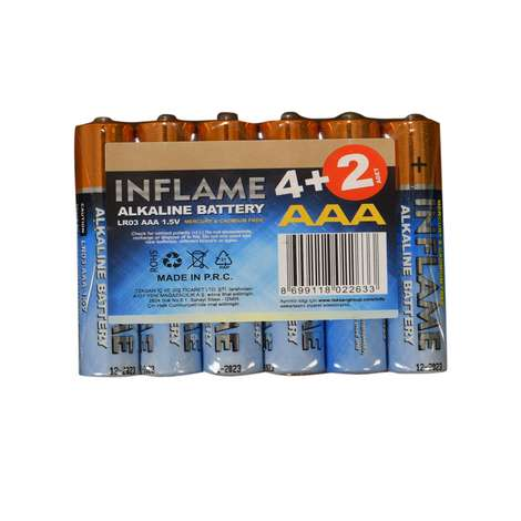 Inflame Alkalin İnce Pil 6'lı