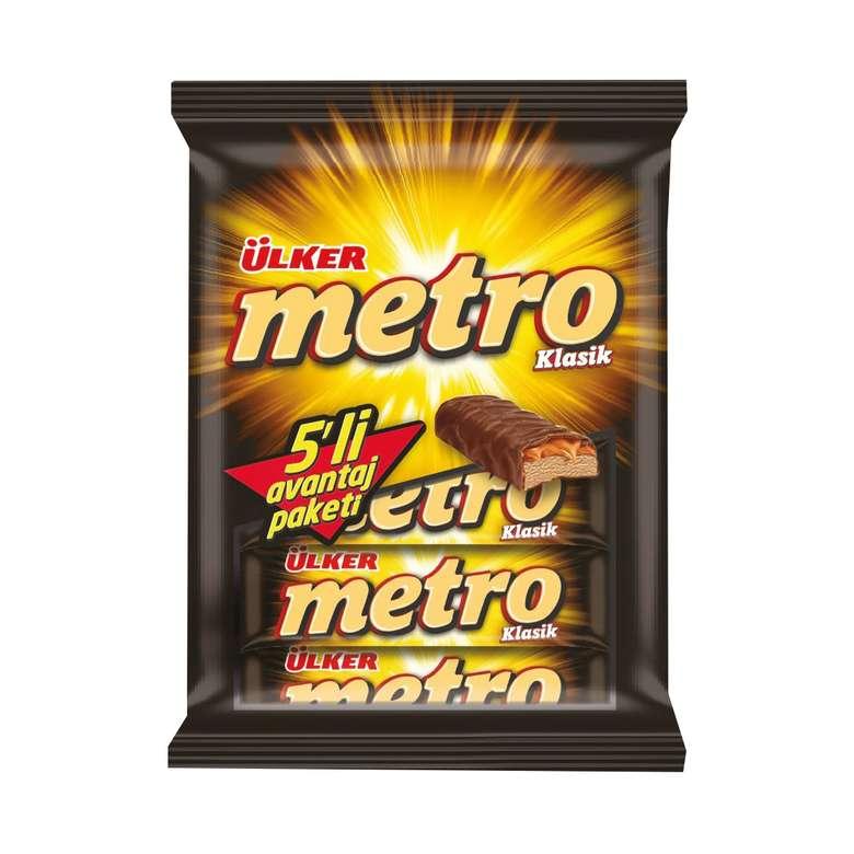 Ülker Metro Bar Çikolata Karamelli 5*36 G