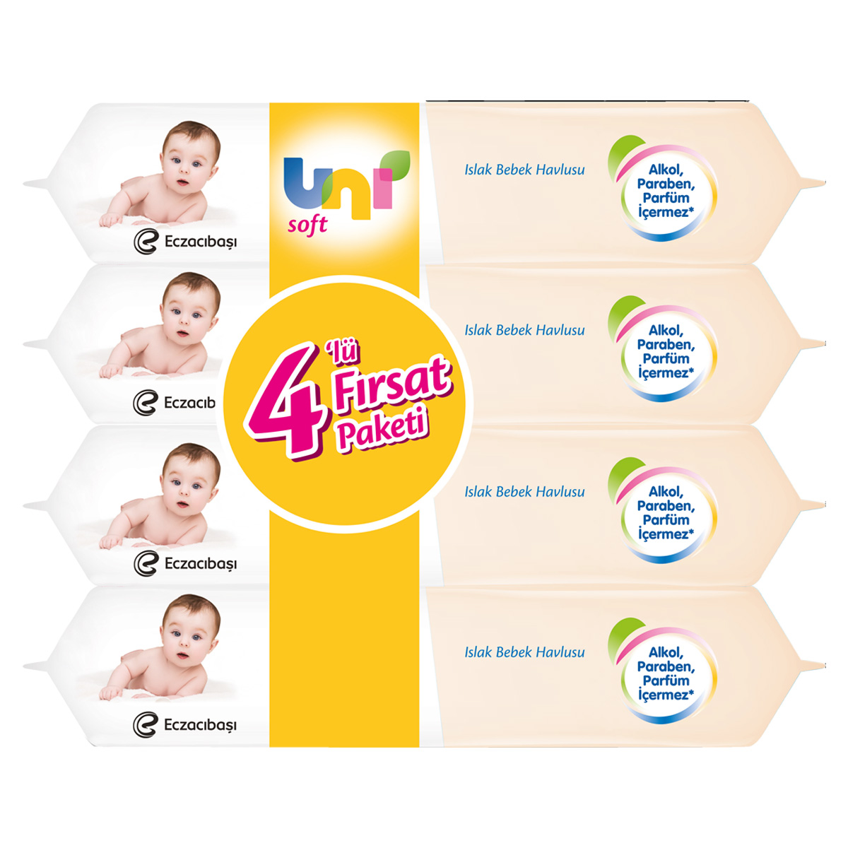 Uni Soft Islak Havlu Sensitive 4x56 A101